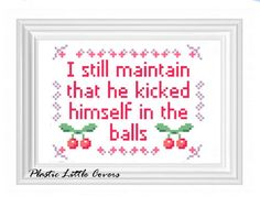 Cross Stitch Pattern - 10 Things I Hate About You Quote.. £2.50, via Etsy.