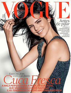 Kendall Jenner on Vogue Brazil January 2016 cover shoot