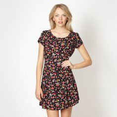 by Henry Holland Designer navy floral dress- at Debenhams Mobile Floral Dress Design, Navy Floral Dress, Henry Holland, Vestido Casual, Debenhams, Little Dresses, Her Style, Shirt Dress, Style Inspiration