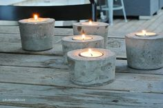 Betonilyhdyt Garden Furniture, Projects To Try, Candle Holders, Candles, Creative, Diy Concrete, Inspiration, Cottage, Yard