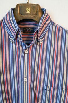 4066dc3ed0a1ab Mens Paul Shark Authentic Striped Long Sleeve Multicolour Shirt Size 40 M L