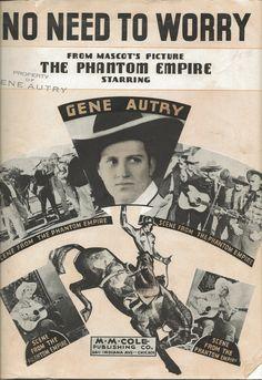 Gene Autry sheet music, 1935