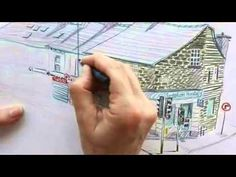 Lynne Chapman - A filmed demonstration, showing how to draw with Inktense watercolour pencils.