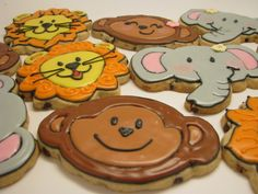 lion, monkey & elephant cookies for party favors?