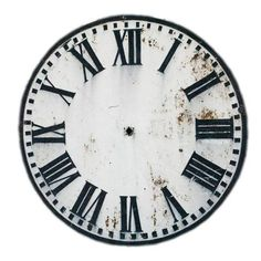 Striking image inside printable clock faces for crafts