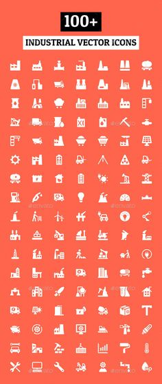 100+ Industrial Vector Icons | Download: http://graphicriver.net/item/100-industrial-vector-icons/10824032?ref=ksioks