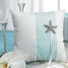 Seaside Allure Ring Bearer Pillow by Beau-coup