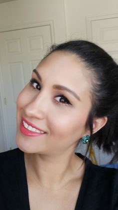 Get this bright coral makeup look on the blog!   Being Spiffy