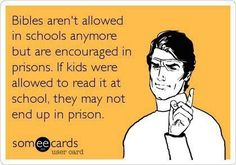 Bibles ARE allowed in schools. People make a lot of incorrect assumptions. Students have freedom of speech and religion in public schools. Only teachers are not allowed to impress these upon students. Check your facts.