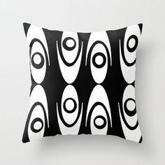 Mod Black & White Throw Pillow Mod PillowMid by crashpaddesigns