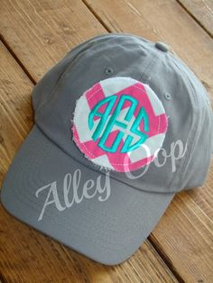 Preppy Monogrammed Baseball Cap hat Bridesmaid by amandajohne,