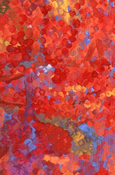 """Untitled"" Emily Kame Kngwarreye 1997 Size: 111 X 113 cm Materials: wool, cotton Weavers: Grazyna Bleja and Milena Paplinska. Australian Tapestry Workshop. #tapestry"
