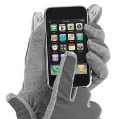 Isotoner SmarTouch Gloves!  you can use your iPhone and keep your digits warm