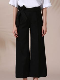 SHARE & Get it FREE | Solid Color Belted High Waist Wide Leg Pant - BlackFor Fashion Lovers only:80,000+ Items • New Arrivals Daily Join Zaful: Get YOUR $50 NOW!