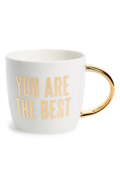 motivational pick-me-up mug featuring gold accents @nordstrom #nordstrom