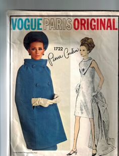 VOGUE PARIS ORIGINALPATTERN  1722 PIERRE CARDIN UNFOLDED AND UNUSED #Vogue #SewingPattern