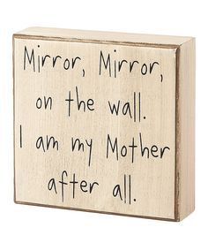 'Mirror, Mirror on the Wall' Box Sign