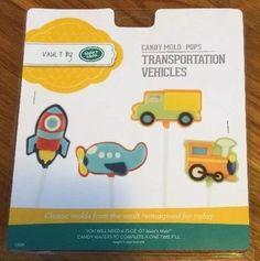Make N' Mold Transportation Vehicles Candy Lollipop Molds Pops 3308 | eBay