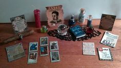 Dollhouse Miniature Witch 24pc Tarot, Potions, Crystal Ball, Poison Apple & MORE