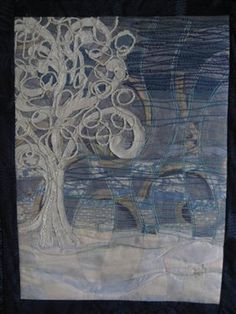Winter scene quilt...frost on the trees. Beautiful!!!