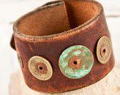 etsy.com Leather Cuff Bracelet