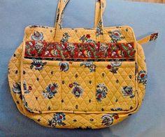 Vera Bradley Diaper Baby Bag French Yellow Retired Pattern 1999-2001 Vintage  #VeraBradley #DiaperBag