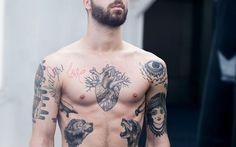 Tatuagem Masculina na Costela | Lobo em Oldschool