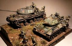 """For the Motherland! For Stalin!"" - Karopka.ru - bench models, military miniature"