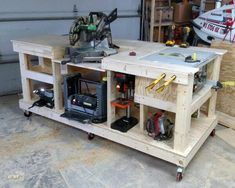 moveable workbench with wheels tool storage ideas