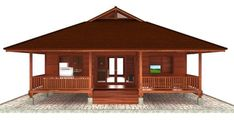 Hawaii Floor Plans: Teak Bali demonstrates how fabricating Hawaii Sustainable Homes with wood is actually one of the most practical ways to build consciously whilst directly giving back to the environment. Cottage Style House Plans, Tiny House Cabin, Small House Plans, House Floor Plans, Bamboo House Design, Tropical House Design, Small House Design, Rest House, House In The Woods