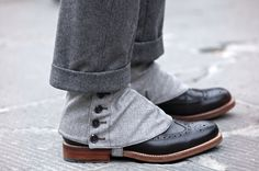 Your throwback shoe game is tight fine sir. Got them spats on top of clean wingtips. Of course you need to roll up those pants to show how you roll.