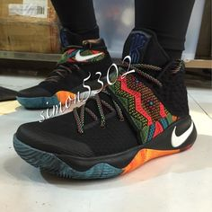 Find 2016 Nike Kyrie 2 SneakersBHMMulti-Color Array On The Laces/Two-Toned Outsole Mens Basketball Shoes 388596 online or in Lebronshoes. Shop Top Brands and the latest styles 2016 Nike Kyrie 2 SneakersBHMMulti-Color Array On The Laces/Two-Toned Outso Running Shoes Nike, Nike Shoes, Sneakers Nike, Running Sports, Zapatillas Nike Jordan, Irving Shoes, Roshe Shoes, Nike Roshe, Sneaker Bar