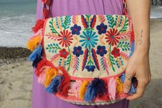 Cabo Embroidered Purse $42