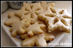 Christmas Snowflake Cut Out Cookies