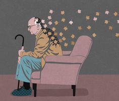 Editorial illustration about Alzheimers disease for health magazines, by John Ho. - All Diseases Art Prints, Leaf Art, Conceptual Illustration, The Grim, Drawings, Creative, Painting, Art, Creative Illustration