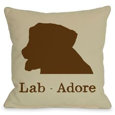 Puppy Pillows by One Bell Lab - Adore Throw Pillow