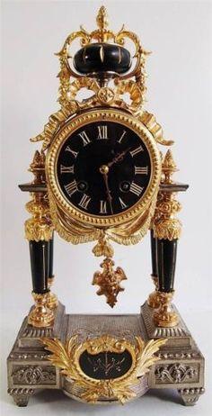 Antique clock 19thc French 2 https://www.facebook.com/The-Clock-Shop-114715265257239/timeline/?ref=bookmarks