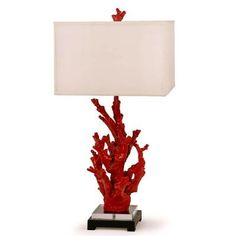 Coral Lamp: With the grey hued walls, white bed and white side tables, my coastal retreat is screaming for a pop of color. These coral lamps heard the call. I also like the squareness of the shade (in white) to add some balance to the curvy ocean wave inspired decor.