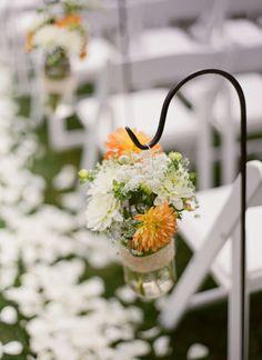 fall arrangements with shepard's hooks | Meg Runion #wedding