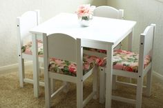 DIY Fancied Up Kids Table and Chairs-Ikea Hack