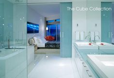 Cube Collection   WETSTYLE Bathroom Inspiration, Interior Inspiration, Design Inspiration, Contemporary Bathtubs, Wet Style, New Project Ideas, Sliding Glass Door, Glass Doors, White Bathroom