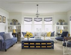 I want a yellow and blue living room SOOO BAD