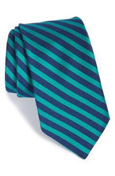 Men's Ted Baker London Stripe Cotton & Silk Tie