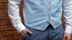 Melissa of the Sewing Rabbit Team is here showing you how to sew a men's vest with this easy sewing tutorial!