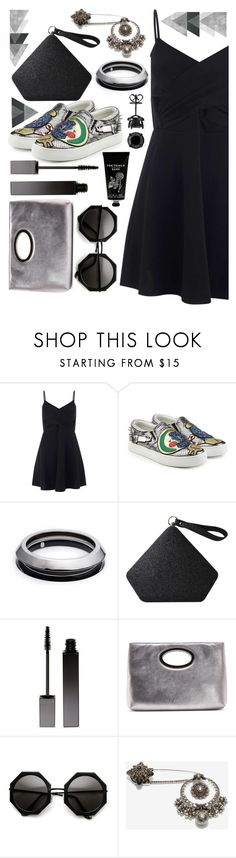 """""""Black and silver"""" by sunnydays4everkh ❤ liked on Polyvore featuring Miss Selfridge, Marc Jacobs, Alexis Bittar, Serge Lutens, Donald J Pliner, Alexander McQueen and TokyoMilk"""