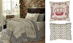"Vintage Paris Quilt - ""Elysee"" Queen 4 Piece Quilt  Bedding Set - BIG SAVINGS for a Limited Time! - Visit our website at www.crystalcreekdecor.com for more sizes and selections on  Home Decor at great prices!  Also be sure to join our mailing list for upcoming offers, new products and special package deals."