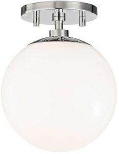 Mitzi D Hudson Valley Lighting Stella 1 Light Semi-Flush Mount Ceiling Light