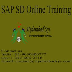 "Sap sd online training numerous SAP SD applicants swayed us to begin a SAP SD web preparing in the wake    <a href=""http://hyderabadsys.com/sap-sd-online-training/""> SAP SD Online Training </a>"