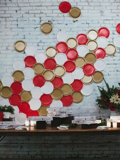 Decorating a wall with paper plates