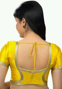 We are here with selected Back Neck Blouse Designs Patterns for modern look and glamourous style. Blouse Back Neck Designs, Simple Blouse Designs, Stylish Blouse Design, Designer Blouse Patterns, Fancy Blouse Designs, Bridal Blouse Designs, Saree Blouse Designs, Indian Blouse Designs, Sari Blouse